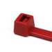 Hellermann Tyton T50R2C2 Cable Tie; 0.060 - 1.970 Inch Bundle Dia, 0.180 Inch x 8 Inch, 50 lb Tensile Strength, Polyamide 6.6, Plastic Pawl, Red