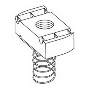 Cooper B-Line N255ZN Spring Nut; 5/8-11, Threaded, Hardened ASTM A108 Steel, Electro-Plated Zinc