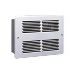 King Electrical WHF2415I Fan Forced Electric Space Wall Heater With Grille; 240 Volt, 1500 Watt, Wall Mount, Nickel Chromium Alloy Wire Heating Element, 22 Gauge Electro Galvanized Steel, Bright White, Epoxy Powder coated