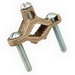 Hubbell Electrical / RACO 2505 Grounding Rod Clamp; 1-1/4 - 2 Inch IPS, Bronze Alloy
