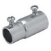 Hubbell Electrical / RACO 1432 Set Screw Rigid Coupling; 1/2 Inch, 1/4-28 x 3/8 Inch, Steel, Electro-Plated Zinc