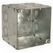 Hubbell Electrical / RACO 256 Large Capacity Square Box; 3 1/2 Inch Depth, Steel, 45 Cubic-Inch, 16 Knockouts