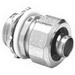 Bridgeport 435-SLTI Liquidtight Connector; 2 Inch, Malleable Iron, Electro-Plated Zinc