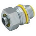 Hubbell Electrical / RACO 3518 Liquidtight Connector; 2 Inch, NPT, Steel/Malleable Iron, Electro-Plated Zinc