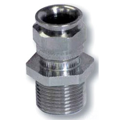 Cooper Crouse-Hinds CAP818674 Cable Gland; M20 x 1/2 Inch NPT, Brass, Nickel-Plated
