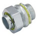 Hubbell Electrical / RACO 3406 Liquidtight Connector; 1-1/2 Inch, NPT, Steel/Malleable Iron, Electro-Plated Zinc