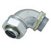 Hubbell Electrical / RACO 3422 90 Degree Liquidtight Connector; 1/2 Inch, NPT, Steel/Malleable Iron, Electro-Plated Zinc
