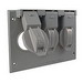Hubbell Electrical / RACO 5093-0 Bell® Device Cover; Gray, Box Mount