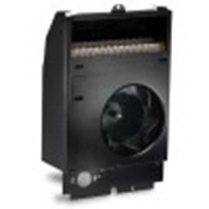 Cadet 67550 Com-Pak Fan Forced Electric Wall Heater Assembly Without Thermostat; 120 Volt, 500 Watt, Wall Mount, Nichrome Wire Heating Element, 20 Gauge Metal Grille and Wall Can, Black, Powder Coat Painted