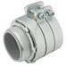 Hubbell Electrical / RACO 3303 Squeeze Connector; 0.750 Inch, Malleable Iron, Electro-plated Zinc