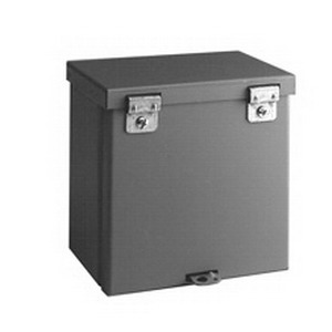 Cooper B-Line 12126RTHC Junction Box; 16 Gauge Galvanized Steel, ANSI 61 Gray, Wall Mount, Hinged, Padlockable Hasp Cover