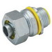 Hubbell Electrical / RACO 3522 Liquidtight Connector; 3 Inch, NPT, Steel/Malleable Iron, Electro-Plated Zinc