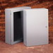 Cooper B-Line 483612-SD Premier™ Series Panel Enclosure; 16 Gauge Steel, ANSI 61 Gray, Wall Mount