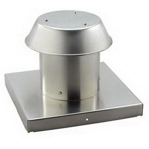 """""Broan Nu-Tone 612CM Roof Cap 0.250 Inch Aluminum, Natural,"""""" 59048"