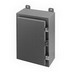 Cooper B-Line 16166-12 Panel Enclosure; 16 Gauge Steel, White Inside, ANSI 61 Gray Outside, External Feet, Wall Mount, Heavy Duty Continuous Hinge, Clamp, Gasketed, Padlockable Hasp Cover