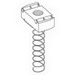 Cooper B-Line N7224-ZN-1/4 Spring Nut; 1/4-20, Threaded, Steel, Electro-Plated Zinc