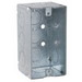 Hubbell Electrical / RACO 8670 Raco® Handy Box; 4 Inch Height x 2-1/8 Inch Width x 1-7/8 Inch Depth, Steel, Silver, 16.5 Cubic-Inch, 11 Knockouts