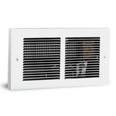 Cadet 63314 Register Fan Forced Electric Wall Heater With Wall Can and Grille 700/900/1600 Watt At 240 Volt, 525/675/1200 Watt At 208 Volt, Wall Mount, Nichrome Wire Sealed in Steel Sheath With Steel Fin Heating Element, White,