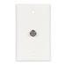 Cooper Wiring 1172W MediaSync™ Coaxial Jack; Flush/Box Mount, Thermoplastic, White