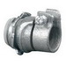 Appleton 7481VI Straight Box Conduit Connector; 1/2 Inch, Armored Cable x Flexible Metal Conduit, Malleable Iron, Electro-Plated Zinc