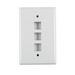 Hellermann Tyton FPTRIPLE-FW Faceplate; Flush Mount, 1-Gang, Acrylonitrile Butadiene Styrene, Office White, 3-Port