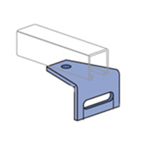 Unistrut P1713HG 90 Degree Angular Fitting 3-1/2 Inch Length x 3-1/2 Inch Width x 2-1/4 Inch Height  Steel  Hot-Dip Galvanized