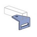 Unistrut P1713HG 90 Degree Angular Fitting; 3-1/2 Inch Length x 3-1/2 Inch Width x 2-1/4 Inch Height, Steel, Hot-Dip Galvanized