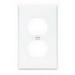 Cooper Wiring 5150W-BOX 2-Gang Duplex Receptacle Wallplate; (1) Duplex Receptacle, Screw Mount, Nylon, High Gloss, White
