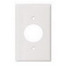 Cooper Wiring 5131W-BOX 1-Gang Single Receptacle Wallplate; (1) Receptacle, Screw Mount, Nylon, High Gloss, White