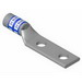 Thomas & Betts 256-30695-252 Color-Keyed® Compression Lug; 2 Hole, 1/4 Inch Stud, 6 AWG, Copper, Blue