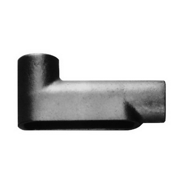 Crouse-Hinds LB200M-CG Condulet® Snappack™ Type LB Pre-Assembled Conduit Body; Form 5, 2 Inch Hub, Malleable Iron, Electrogalvanized with Aluminum Acrylic Painted