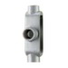Crouse-Hinds T150M-CG Condulet® Snappack™ Type T Pre-Assembled Conduit Body; Form 5, 1-1/2 Inch Hub, Malleable Iron, Electrogalvanized with Aluminum Acrylic Painted