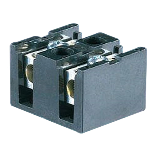 NSI TBS2-3 Terminal Blocks™ TBS Splicer/Reducer; 2-14 AWG, 6 Conductors, 600 Volt, 75 Amp, Black, Thermal Plastic, 2 Pole