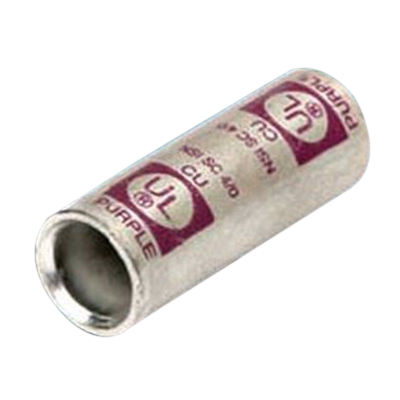 NSI SC-500 Short Barrel Compression Splice; 500 MCM, 2 Conductors, 600 Volt, Brown, Copper, Tin Plated, 1 Pole
