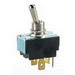 NSI 78260TS Toggle Switch; 2-Pole, DPDT, 125/250 Volt AC, 15/10 Amp, Brass-Nickel