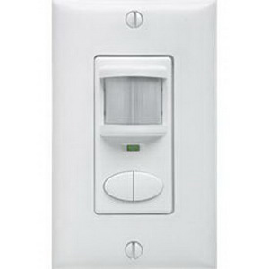 Lithonia Lighting / Acuity WSD-2P-WH Sensor Switch® Passive Infrared Wall Switch Decorator Occupancy Sensor; 120/277 Volt AC, 20 ft (Small motion), 36 ft (Large motion), Pole 1-Automatic On/Pole 2-Vacancy, White, Single Gang Switch Box Mount