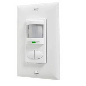 Lithonia Lighting / Acuity WSD-PDT-AL Sensor Switch® Dual Technology Wall Switch Decorator Occupancy Sensor; 120/277 Volt AC, 20 ft (Small motion), 36 ft (Large motion), Automatic On (Default)/Vacancy, Light Almond, Single Gang Switch Box Mount