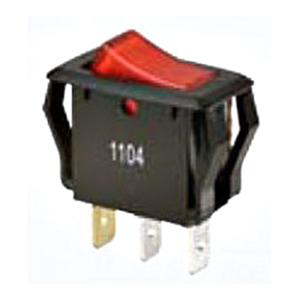 Buchanan 774039 Ideal Appliance Rocker Switch; 1-Pole, SPST, 125/250 Volt AC, 16/10 Amp, Red Lighted Rocker