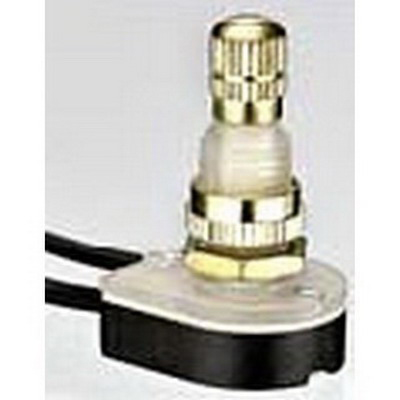 Buchanan 774061 Ideal Rotary Switch; 1-Pole, SPST, 125/250 Volt AC, 6/3 Amp, Brass Plated