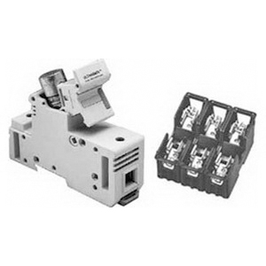 Eaton / Cutler Hammer C383FHCC Fuse Holder; 30 Amp (UL), 25 Amp (CSA), Polyester, Screw, DIN-Rail Mounting, White