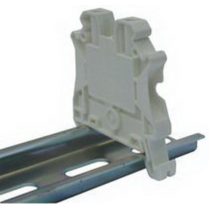 Eaton / Cutler Hammer XBUT4WH IEC-XB Series Single Level Feed-Through Terminal Block; 6.2 mm Space, Screw Connection, White