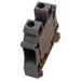 Eaton / Cutler Hammer XBUT16 IEC-XB Series Single Level Feed-Through Terminal Block; 12 mm Space, Screw Connection, Gray