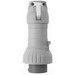 Cooper Crouse-Hinds CH4100P7W Watertight Mechanical Interlock Plug; 100 Amp, 480 Volt, 4-Pole, 3-Wire, 3 Phase, Red