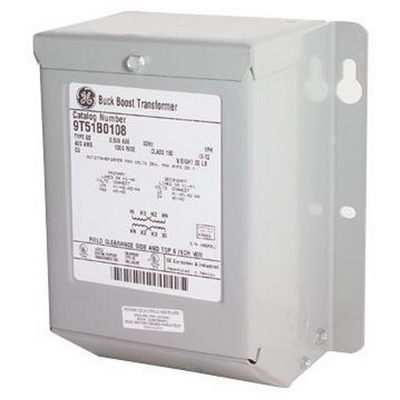 GE Transformer 9T51B0142 Buck-Boost Transformer; 240 Volt Primary, 120 Volt Secondary, 5 KVA, 1 Phase