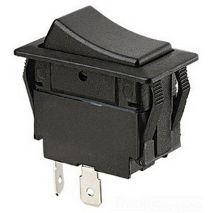 Ideal 774045 Full Size Rocker Switch; 1-Pole, SPST, 125/227 Volt AC, 20/15 Amp, Black