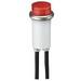 Ideal 777211 Indicator Light; Raised/Transparent Lens, 125 Volt AC, 1.3 Watt, 2 Milli-Amp, Neon, Green