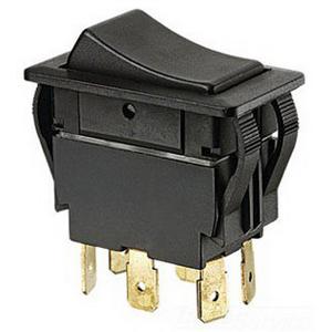 Ideal 774040 Full Size Rocker Switch; 2-Pole, DPDT, 125/277 Volt AC, 15/20 Amp, Black