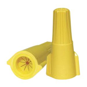 Ideal 30-160Y MudBug® DB Twister Wing-Nut® Connector; 18-8 AWG, 600 Volt, Flame-Retardant Polypropylene, Yellow, 25/Box