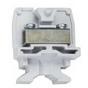 Ideal 0924 900 Series Medium Duty Terminal Block; 600 Volt AC, 50 Amp, 0.375 Inch Space, Channel Screw Connection, Gray