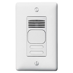 Hubbell Wiring AD1277W2 H-Moss® Dual Technology Ultrasonic and Passive Infrared Wall Switch Occupancy Sensor; 120/277 Volt AC, 1000 Sq ft, Manual On/Automatic On, White, Single Gang Switch Box Mount